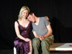 Liana Shannon as Vera and Isaac Andrew as Dion in the 2011 production of Take a Bite