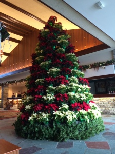 Christmas Tree of POINSETTAS.