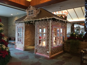 Gingerbread house big enough to stand in...and marked Do Not Eat. Temptation.
