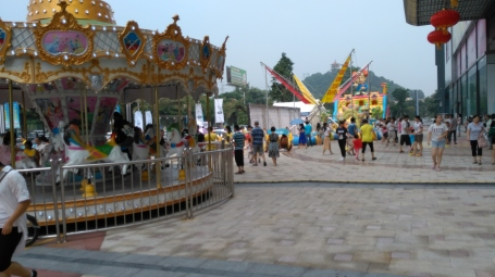 Non-food: China's National Day is October 1. This fun fair outside the mall is permanent, but on Oct 1, it was packed.