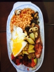 """...and I made a fry-up. I didn't take this photo - my flatmate did. His words: """"It looks beautiful."""""""