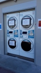 Self-serve washing machines at the port for the million-dollar yacht owners!