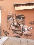 Picasso lived in Vallauris for a while. There are murals and monuments to him everywhere.