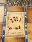 David Lynch's handprint. :0